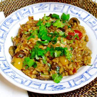 Chicken Mushroom Risotto with Tomato Confit
