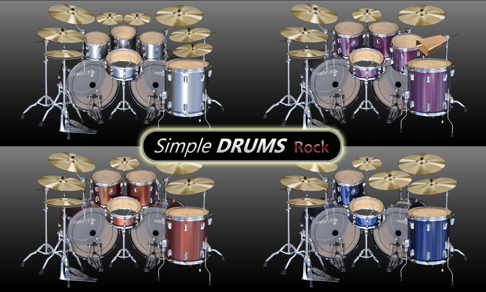 Simple Drums Rock - Realistic Drum Set Android App Screenshot