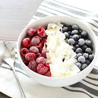 Berries and Coconut Smoothie Bowl.