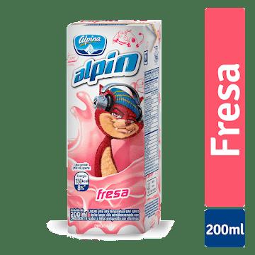 Leche ALPINA Alpin Fresa   con Vitaminas x200Ml