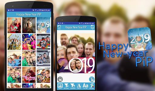 Happy New Year 2019 - PIPPhotoFrames 1.0 screenshots 9