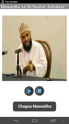 Mawaidha ya Sh Rashid - audio
