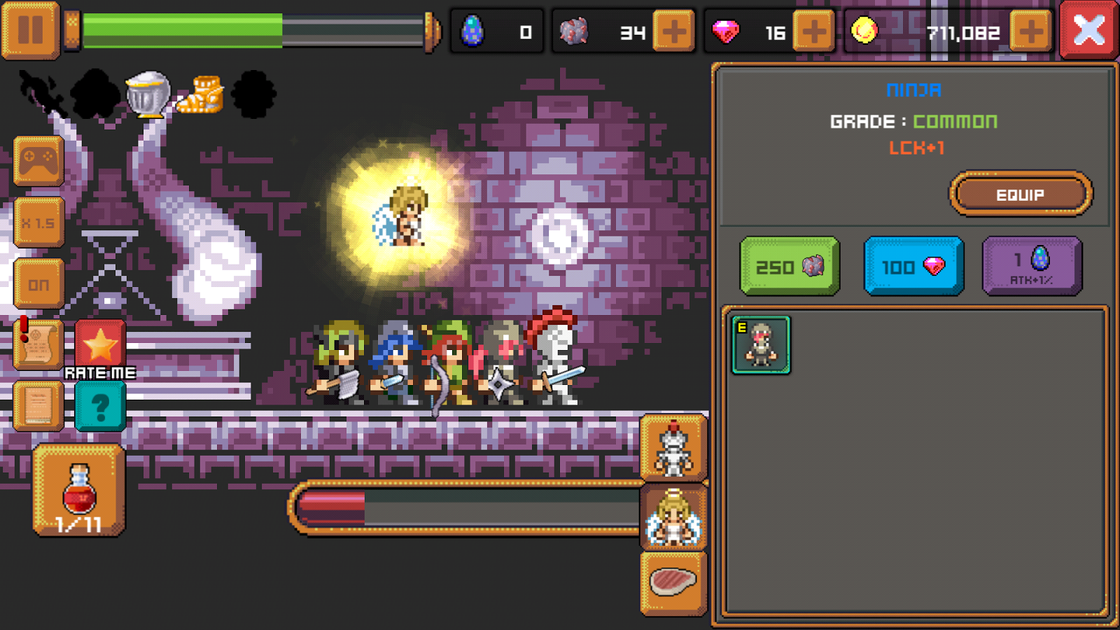 Tap Knight and the Dark Castle- screenshot