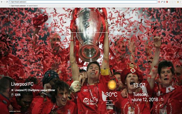 Sport Fanatic - New Tab page
