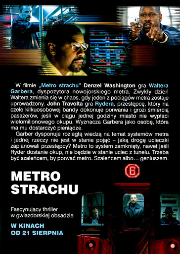 Tył ulotki filmu 'Metro Strachu'