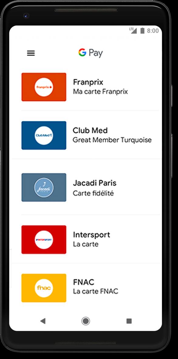 Google Pay App Sample Interface 3: Google Pay