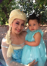 Photo: Maria now dresses up as Princess Elsa and offers face painting and balloon art to Frozen themed birthday parties! Hire her for by calling 888-750-7024.