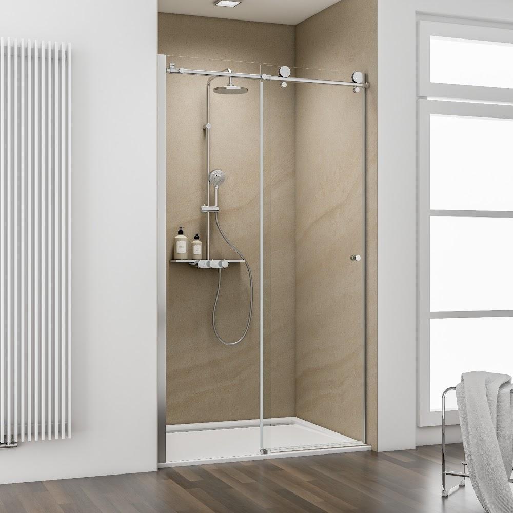 porte de douche coulissante 100 cm anticalcaire