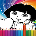 Coloring Game For Dora - Draw icon