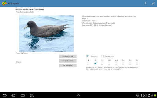 NZ Birding Checklist screenshot 10