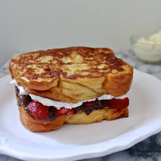 Strawberry Nutella Cheesecake French Toast Grilled Cheese.