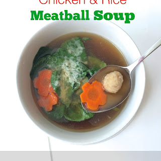 Chicken & Rice Meatball Soup.