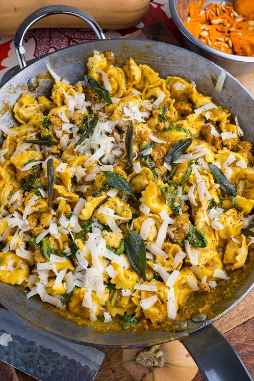 Roasted Butternut Squash and Sausage Tortellini