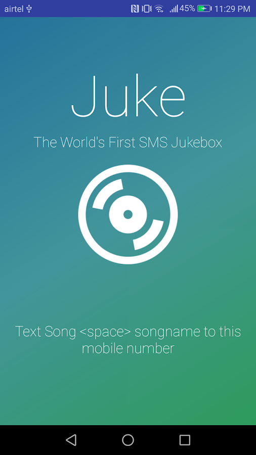 Juke  - The SMS Powered Jukebox- screenshot