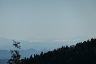 南アルプスの塩見岳(中央左)・悪沢岳(右)