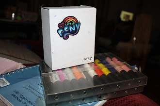 Photo: Using professional graphic art markers by pantone to start decorating the box