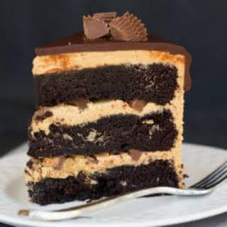 Peanut Butter Cup Overload Cake.