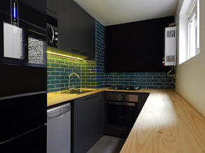 Photo: Kitchen at Lastarria III Apartment . By A-Cuadrado