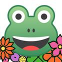 สวัสดีตอนเช้า สวัสดีทุกเวลา ดอกไม้สวย:กบน้อยสวัสดี icon