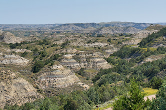 "Photo: East, west, south, or north, from the Ridgeline Nature Trail, it is easy to understand how the ""badlands"" term was coined."