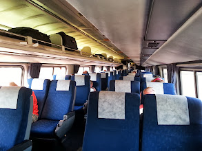 Photo: The view from our seats inside. The train was packed through to Harrisburg and emptied out steadily after that.