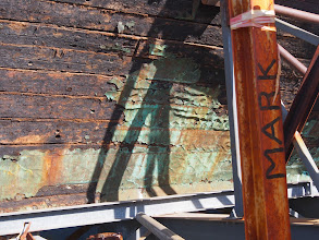 Photo: Remnant copper plating - City of Adelaide clipper ship