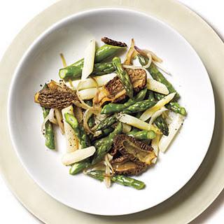 Morel Mushroom and Asparagus Sauté.