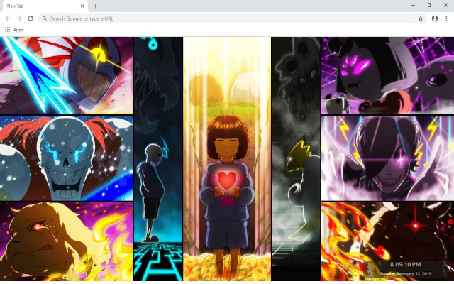 Undertale New Tab & Wallpapers Collection