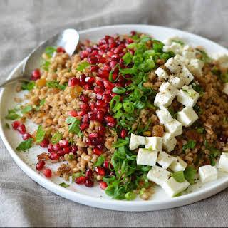 Egyptian Barley Salad with Pomegranate Vinaigrette.