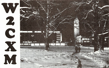 Photo: The Cornell club is still located where it was in the early 80's - in the room at the top of one of the two stair towers at Barton Hall (a large open-space athletic event arena), with an antenna tower on the other stair tower - across a broad roof. This card is from 1981 or 82.