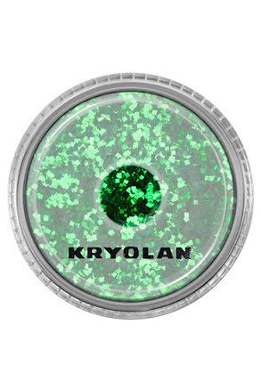 Kroppsglitter, kryolan grön