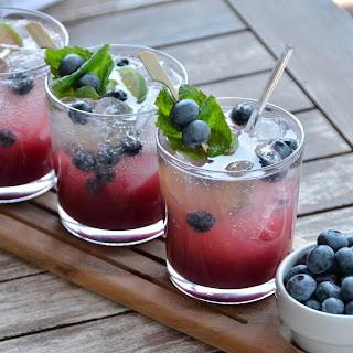 Blueberry Peach Mojito.