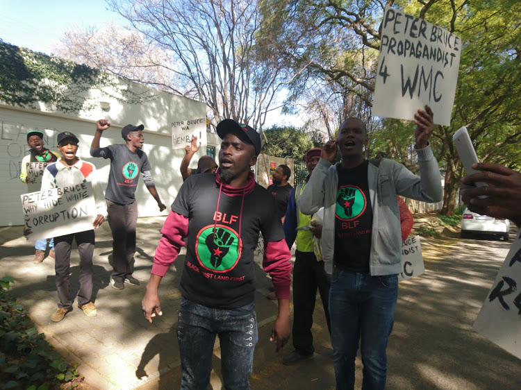 BLF protests outside Peter Bruce's house