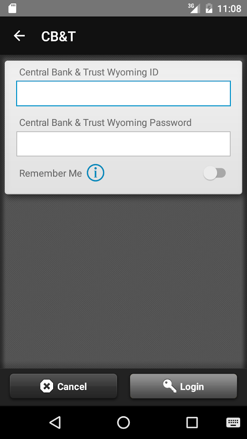 Central Bank & Trust Wyoming- screenshot