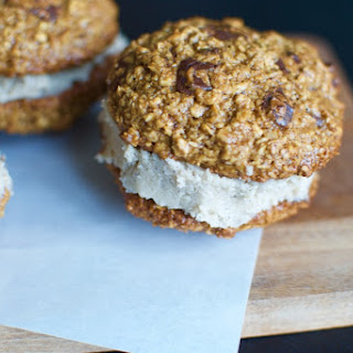Chocolate Chip Cookie Sandwiches Stuffed With Cashew Vanilla Cream