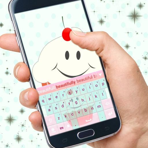 个人化のキュートなキーボードのカップケーキ LOGO-記事Game