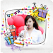 Birthday Greeting Cards Maker: photo frames, cakes icon