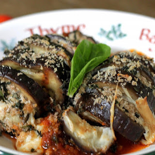 Oven-baked Eggplant Parmigiana Slinky's