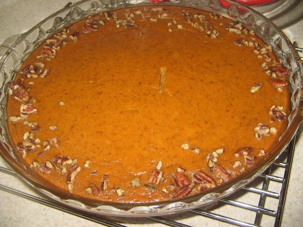 Add the pumpkin until well mixed. Slowly pour milk into pumpkin mixture;until well blended....