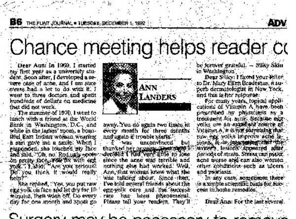 Ann Landers, December 1, 1992.