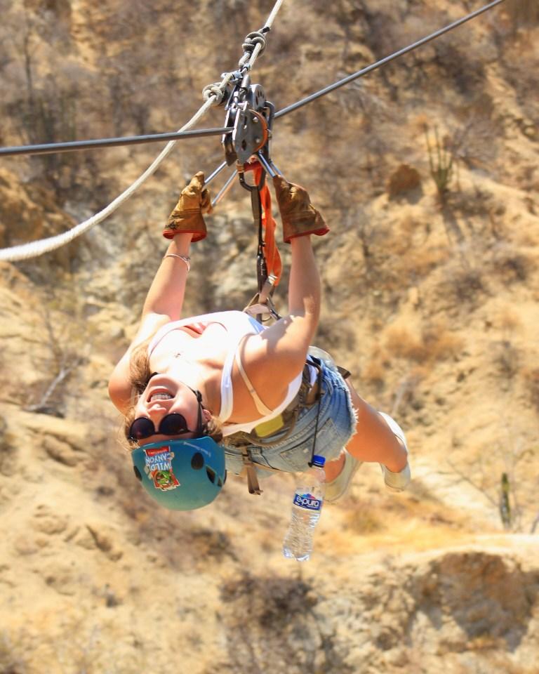 Here I am ziplining backward over Wild Canyon.