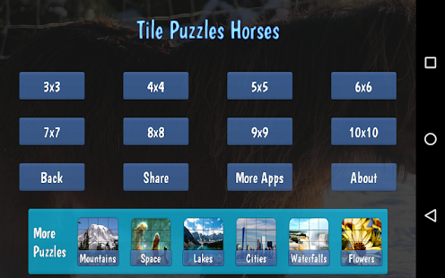 Tile Puzzles · Horses- screenshot thumbnail