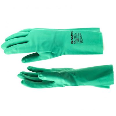 Перчатки резиновые технические маслобензостойкие Сибртех XL