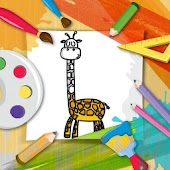 Kidoo Cartoon and Animal Coloring Book Pages
