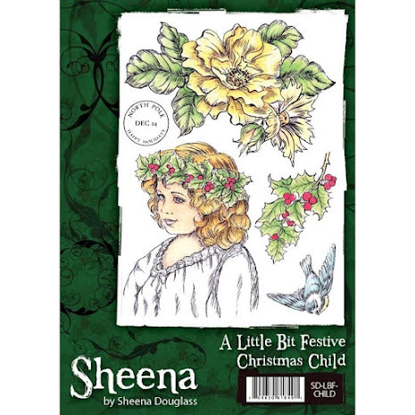 Sheena Douglass A Little Bit Festive Stamp A6 - Christmas Child UTGÅENDE