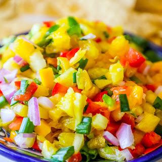 Spicy Pineapple Mango Salsa - Whole Foods Knockoff.