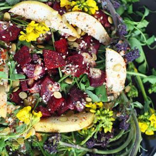 Spring Salad Recipe for Vibrant Flowering Greens.