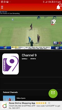 Download Channel 9 Live APK latest version by Nischup TUHIN
