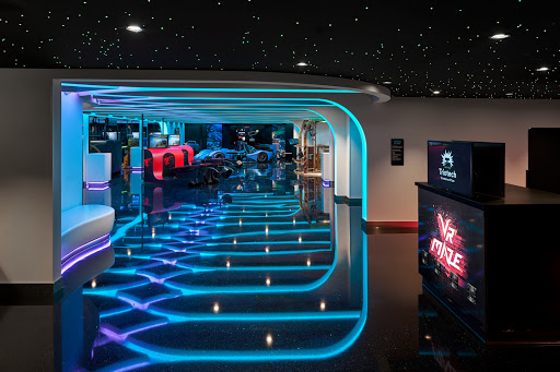 ncl_Encore_Galaxy_Pavilion.jpeg -  Galaxy Pavilion on Norwegian Encore is the gaming and virtual reality zone with an array of realistic simulations, mazes and an Escape Room outfitted with special effects.