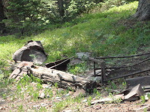 Photo: Bed springs, tin and trash are all  part of the archaeological record, historic and prehistoric.